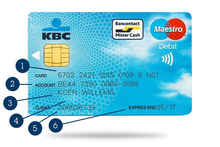 Where To Find Your Card And Account Number Kbc Brussels Bank